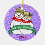 Nuestro 2do navidad ornamento para arbol de navidad