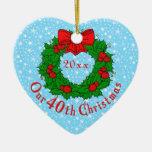 Nuestro 40.o navidad ornaments para arbol de navidad