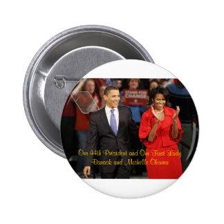 Nuestro 44 o presidente y nuestra primera señora pin