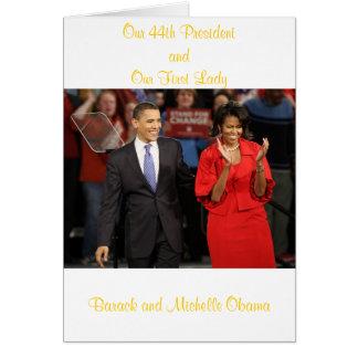 Nuestro 44.o presidente y nuestra primera señora tarjetón