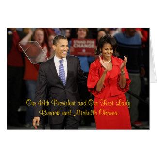 Nuestro 44.o presidente y nuestra primera señora felicitaciones