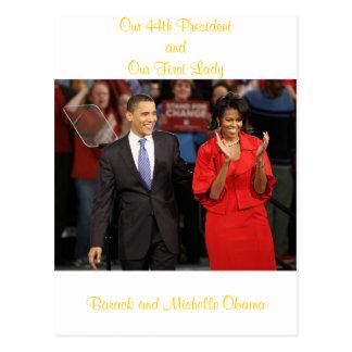 Nuestro 44.o presidente y nuestra primera señora postales