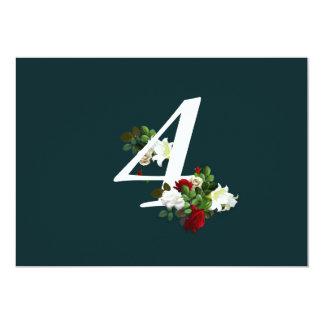 """Nuestro amor del Forever (boda) - tarjeta numérica Invitación 5"""" X 7"""""""