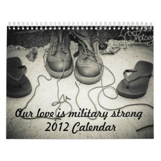 Nuestro amor es calendario fuerte militar