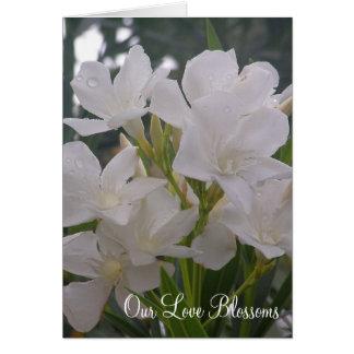 Nuestro amor florece casando Annoucements Tarjeton