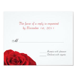 """Nuestro amor subió la contestación del boda del invitación 4.25"""" x 5.5"""""""