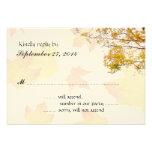 Nuestro árbol en tarjeta de contestación del boda  invitación