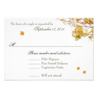 Nuestro árbol en tarjetas de contestación del menú invitacion personalizada