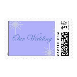 Nuestro azul del boda sello