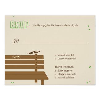 """Nuestro banco que casa las tarjetas de RSVP Invitación 4.25"""" X 5.5"""""""