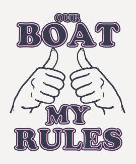 Nuestro barco MI primer compañero de las REGLAS Camisetas