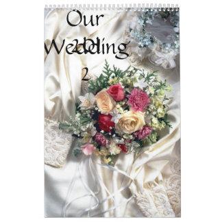 Nuestro boda 2012 calendario de pared