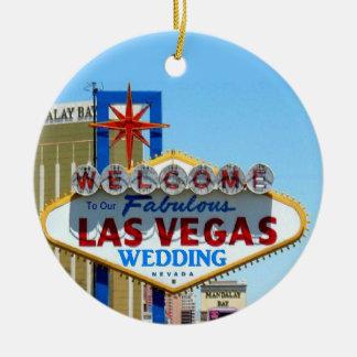 Nuestro boda en el ornamento del recuerdo de Las V Ornato