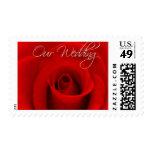 Nuestro boda - franqueo del rosa rojo
