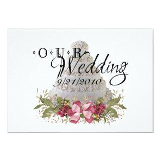 """Nuestro boda invitación 5"""" x 7"""""""