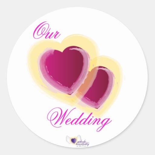 Nuestro boda - Pegatina-Personalizar