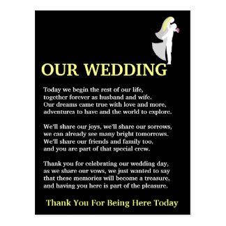 Nuestro boda tarjeta postal