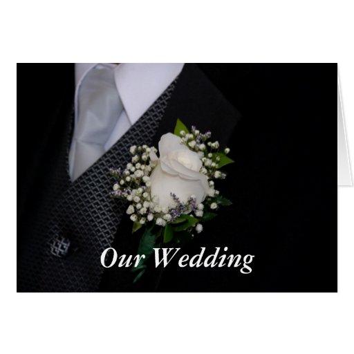 Nuestro boda tarjeton