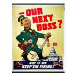 Nuestro Boss siguiente Tarjeta Postal