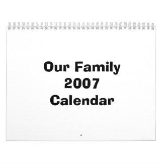 Nuestro calendario de la familia 2007