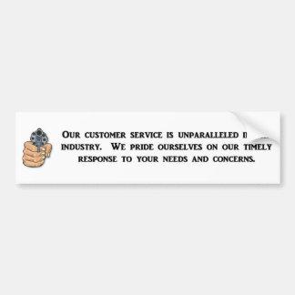 nuestro-cliente-servicio-ser-incomparable pegatina para auto