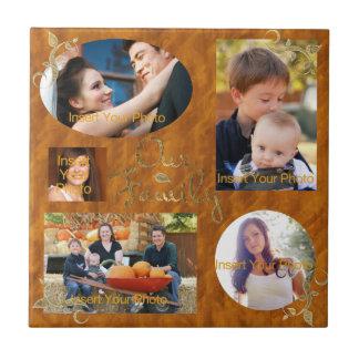 Nuestro collage del álbum de foto de familia azulejos cerámicos