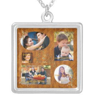 Nuestro collage del álbum de foto de familia colgante cuadrado