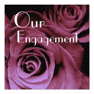 Nuestro compromiso - ramo del rosa rojo de vino
