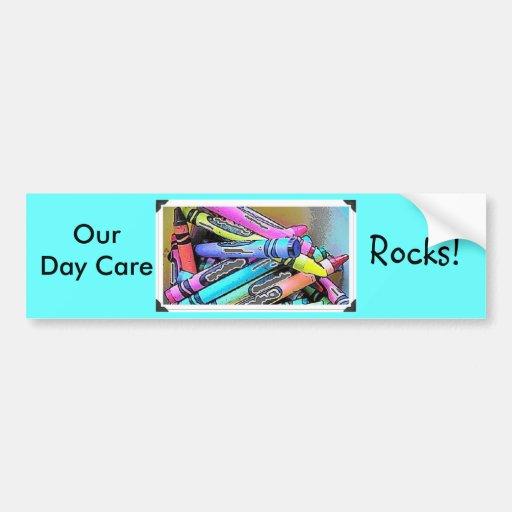 Nuestro cuidado de día… pegatina de parachoque