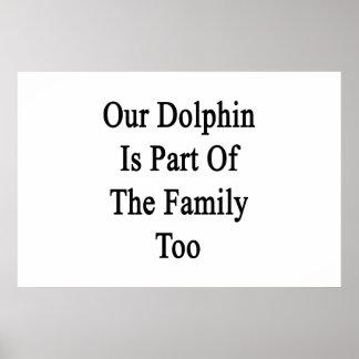 Nuestro delfín es parte de la familia también poster