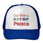 Nuestro deseo es gorra de la PAZ