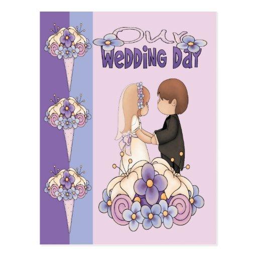 Nuestro día de boda tarjetas postales