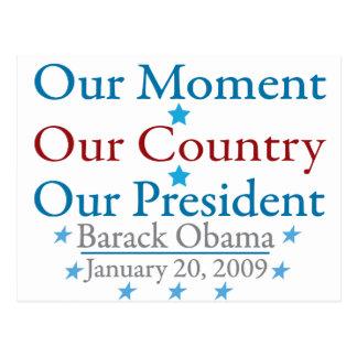 Nuestro día de inauguración de Obama del momento Postales