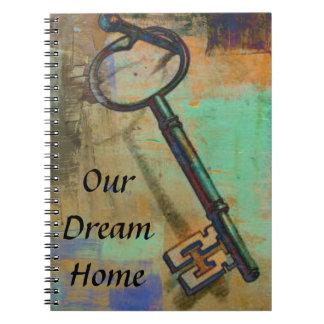 Nuestro diario casero ideal del cuaderno con llave