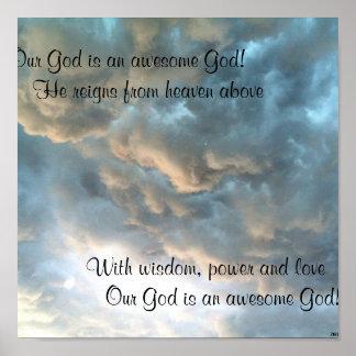 ¡Nuestro dios es dios impresionante! Poster