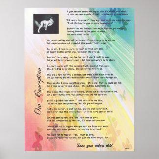 Nuestro favorable poema de la vida del concepto póster