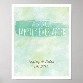 Nuestro feliz nunca después de esmeralda póster