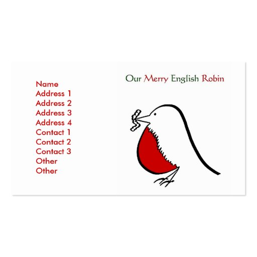 Nuestro feliz petirrojo inglés