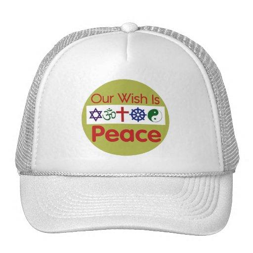 Nuestro gorra de la PAZ del deseo