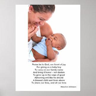 Nuestro hijo bendecido póster