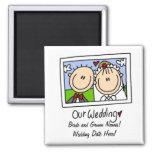 Nuestro imán del personalizable del boda