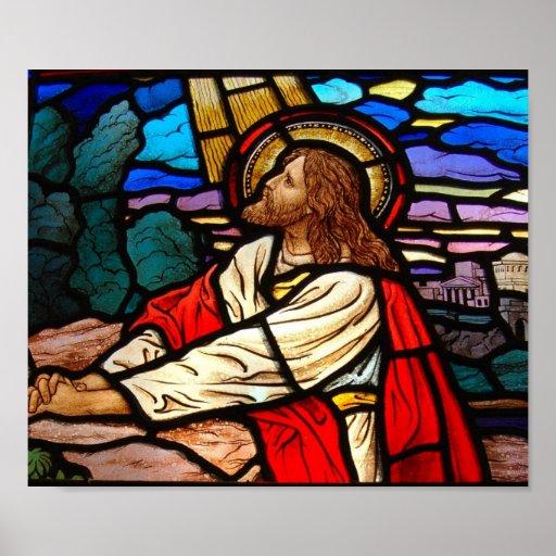 Nuestro Jesucristo del salvador Póster
