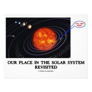 Nuestro lugar en la Sistema Solar nueva Tarjeton