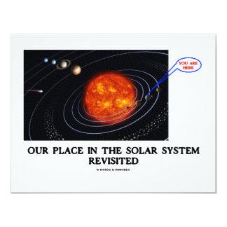 """Nuestro lugar en la Sistema Solar nueva Invitación 4.25"""" X 5.5"""""""