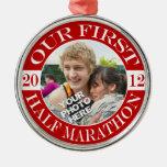 Nuestro maratón de la primera mitad - 2012 ornamento de navidad