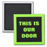 Nuestro marcador genérico de la puerta de imán cuadrado