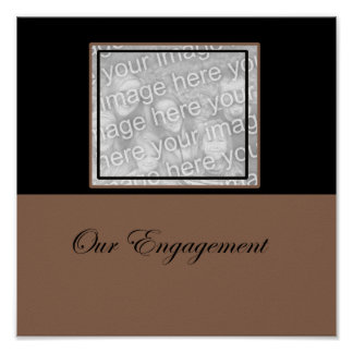 nuestro marco de la foto del compromiso póster