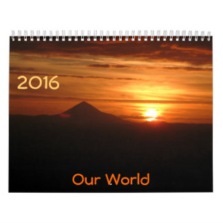 Nuestro mundo, Clendar 2016 Calendarios