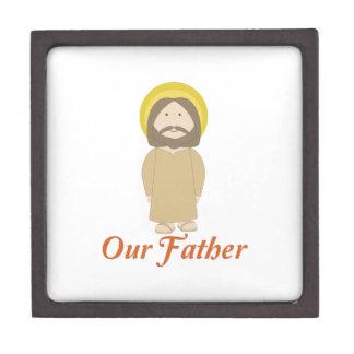 Nuestro padre caja de recuerdo de calidad