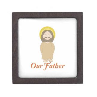 Nuestro padre caja de joyas de calidad
